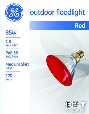 GE  Watt-Miser  85 watts PAR38  Incandescent Bulb  1310 lumens Red  Floodlight