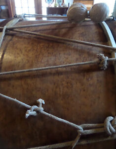 Vintage 51 Inch Base Drum with Sticks Reduced Price