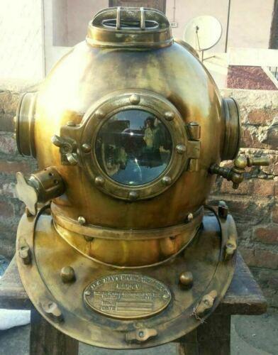 Antique U.S.Navy Diver Vintage Diving Helmet Mark V Deep Water Decor Style Gift