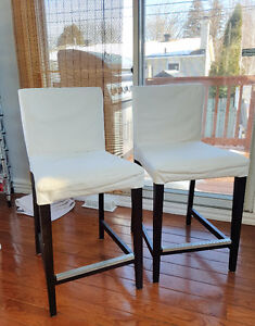 Set of 2 IKEA Henriksdal Bar Chairs, Counter Height, Stools