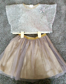 Girls sparkly top and skirt (Monsoon age 3)