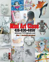 Mini Art Class for 7 to 18 year-old