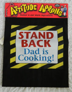 """3 NEW  ATTITUDE APRONS """"DAD IS STILL GRILLING"""" COMEDY APRONS"""