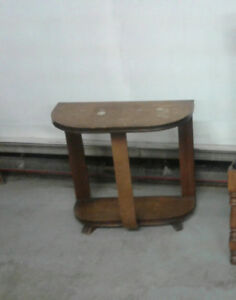 Half Moon Antique Table