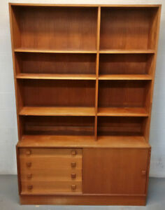 "Retro teak ""flat to the wall""/ wall unit - $260"