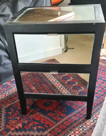 Two solid wood side bed tables
