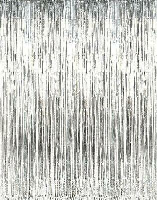 Shimmer Silver Tinsel Photo Shoot Curtain Anniversary Graduation Party Decor Graduation Party Decor