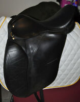 17 inch Black Dressage Saddle in trade for German Shepherd