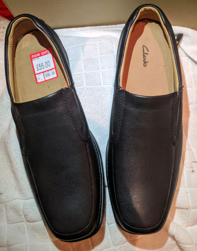 Mens Clarks Wide Slip On Shoes /'Scopic Step/'