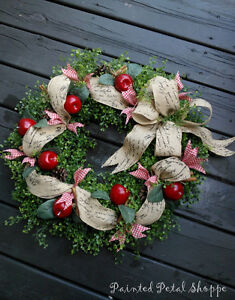 Harvest Apple Wreath/ Fall Wreath/ Autumn Decor