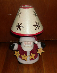 Santa Clause Christmas decoration lamp - use with tealite - Xmas