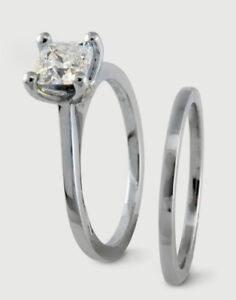 BIRKS ENGAGEMENT RING AND BAND