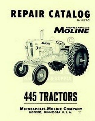 Minneapolis Moline 445 Repair Part Manual Catalog