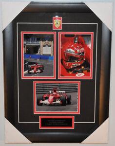 Michael Schumacher Cadre photos 12X18 cm Ferrari Montage Signée