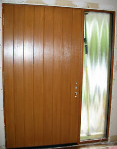 Fiberglass Front Entry Door with Sidelight