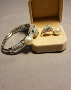 Freshwater Bangle and Ring Set
