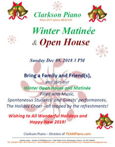 Piano Matinee & Open House @ CLARKSON PIANO