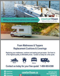 Campers! Looking to replace cushions/mattresses for your RV?