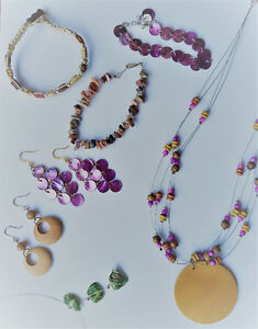 Bundle of hand crafted jewelry