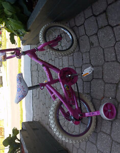 "Girls avico candy 14"" bike good used condition"