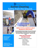 Gutter and window cleaning etc