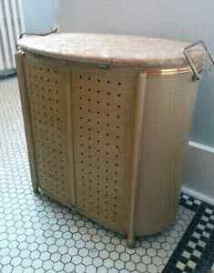 1960's Hollywood Regency Midcentury Laundry Hamper Kitchener / Waterloo Kitchener Area image 4