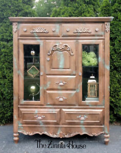 Painted Copper with Patina Cabinet