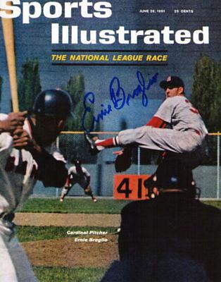 Ernie Broglio 1959-1964 St. Louis Cardinals Signed Sports Illustrated 8x10 Photo