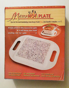 Home - indoor - Micro Hot Plate Microwavable Serving Stone Tray