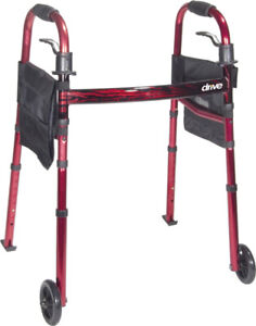 """Folding Travel Walker With 5"""" Wheels BRAND NEW IN BOX"""