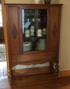 Antique walnut China/display cabinet
