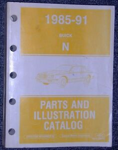 1985 to 1991 Buick N body Somerset Skylark Parts & illustrations