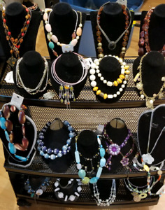 COSTUME JEWELERY STOCK LOT FOR SALE.HAVE WINTER SCARVES& SHAWLS.