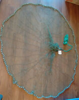 Circular cast net for marine/fishing home or garden decor (NWT)
