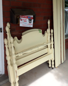 Antique Hospital Bed Frames (set of two twin-sized frames)