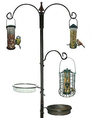 New Traditional Bird Table Feeding Station Hanging Metal Garden Wild
