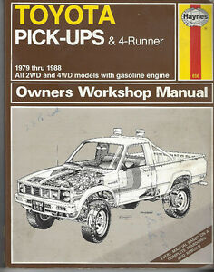 TOYOTA  - OWNERS WORKSHOP MANUAL