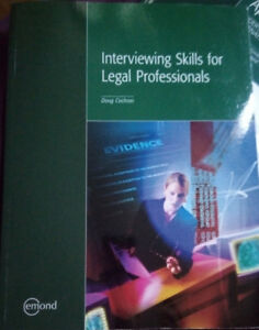 Interviewing skills for legal professionals  Isbn: 9781552391020