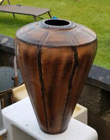 55cm Metal African Style Vase