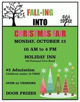 FALL-ING into CHRISTMAS FAIR ! OCT 12th   HOLIDAY INN
