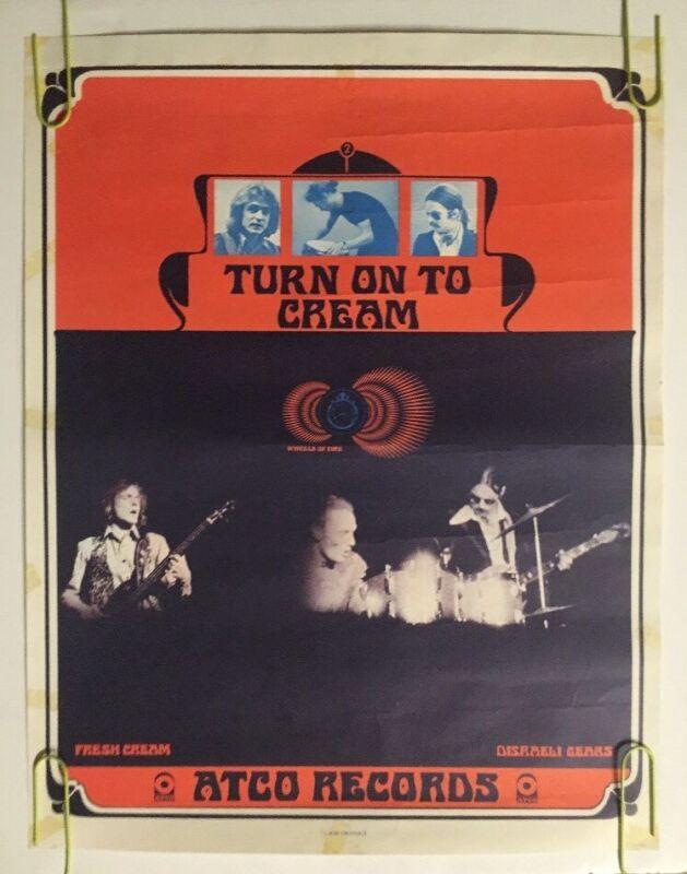Turn On To Cream Vintage Poster  Original Promo Ad Atco Records Disraeli Gears