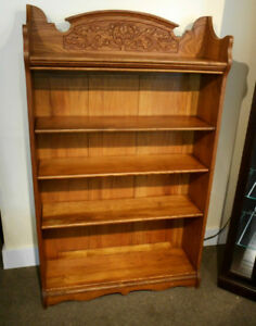 GORGEOUS ANTIQUE CARVED BOOK SHELF AT CHARMAINE'S