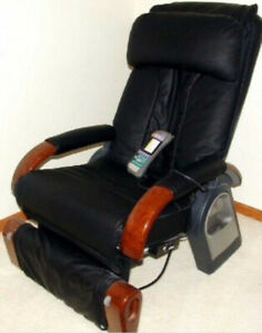 Sanyo Black Leather Massage Chair
