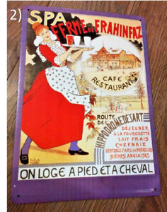 Ferme de Frahinfaz Art by Adolphe Crespin (1986) Metal Sign