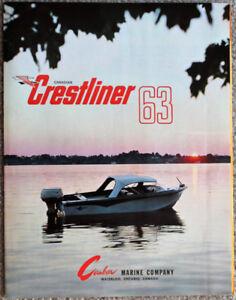 1963 Canadian Crestliner Boats Sales Brochure