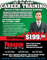 Paragon Security NOW HIRING!