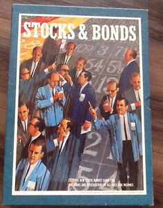"Vintage ""Stocks and Bonds"" 3M Bookshelf game-"