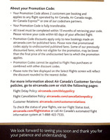 2 Discounts 25% promotion codes on Air Canada+/rouge, ExpressTM