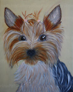 Yorkshire Terrier - Dog Portraits-Acrylic Painting