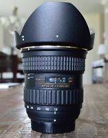 "Lentille Tokina 12-28mm f/4 IF ""mint condition"" Nikon"